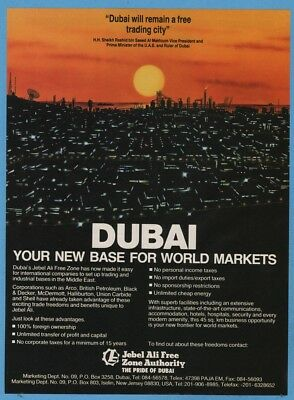 1988 Jebel Ali Free Zone Authority Middle East Dubai United Arab Emirates UAE Ad