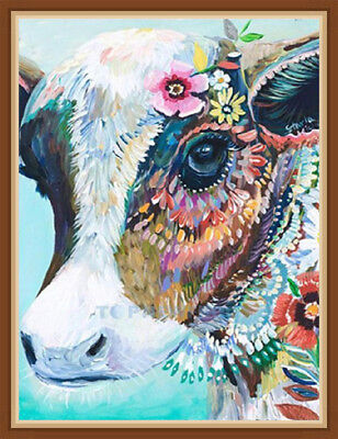 AU Full Drill Cow 5D DIY Diamond Painting Embroidery Cross Crafts Stitch DA