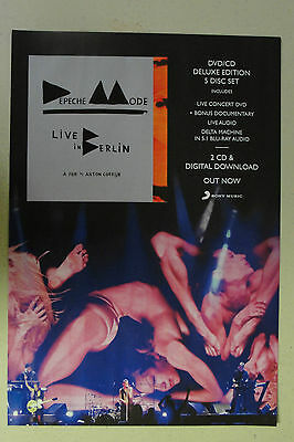 "DEPECHE MODE ""Live in Berlin"" Full Page AD magazine clipping 2014"