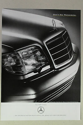 """MERCEDES-BENZ S Class Full Page AD magazine clipping """"Don't Die Wondering"""" 1995"""