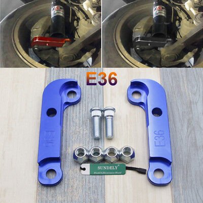 For BMW E36 M3 About 25%-30% Drift Lock Kit Adapter Increasing Turn Angles Blue