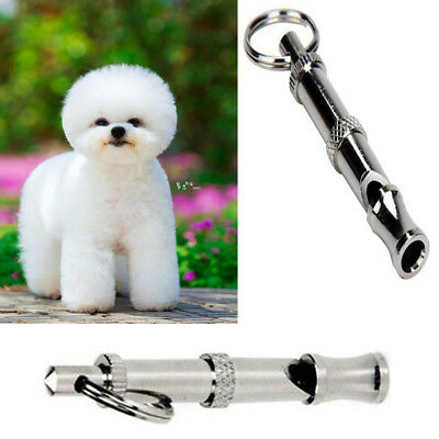 1pc Silver Obedience Ultrasonic Sound Whistle For Dog Training Stop Barking