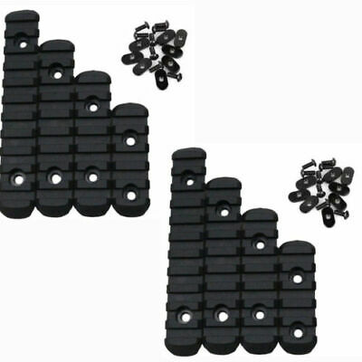 Polymer Rail Section 5,7,9,11 Slots Picatinny/Weaver Rail Section (8 Pieces) Set