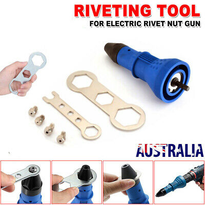 Nut Riveting Insert Hand Drill Heavy Duty Cordless Electric Rivet Gun Tool AUS