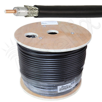 Altelix RG11/U Double Shielded 75 Ohm Low Loss Coaxial Cable 1000 FT Reel