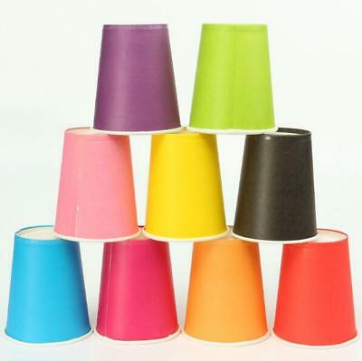 Paper Cups 20 Pcs Catering Tableware Birthday Party Plain 9oz Solid Colours