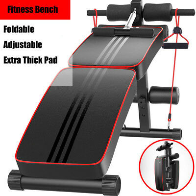 Adjustable Decline Weight Sit up Bench Crunch Board Exercise Fitness