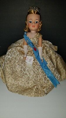 "Vtg Madame Alexander 21"" Queen Elizabeth Doll Original Outfit Jewelry Box"