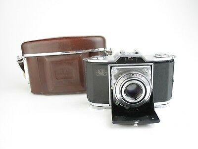 Zeiss Ikon Contina Faltbalgkamera folder + Carl Zeiss Tessar 1:2,8 f=45mm + case