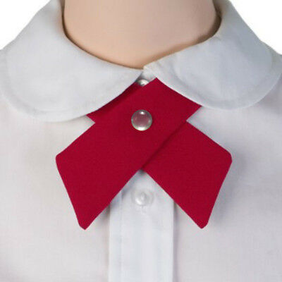 8Colors Girl Women Uniform Neck Tie Adjustable Cross Knot Collar Bowtie US
