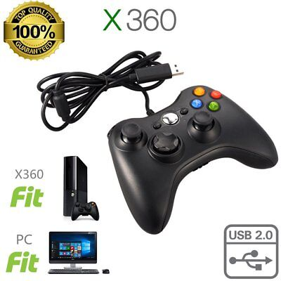 New Wired USB Game Pad Controller For Microsoft Xbox 360 Console / PC Windows AS