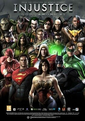 New Injustice Arcade Cards,(30) Regular & (5) Bonus HoloFoils, Total (35) Cards.