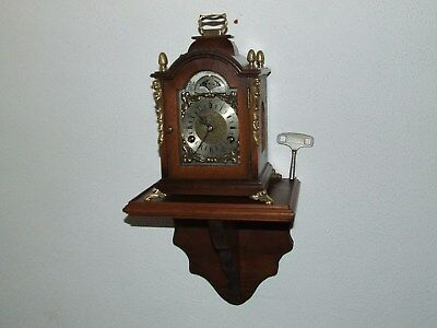 James Powell 8 Day Bracket/Wall Clock/Console Moon phase,Pendulum 2 Bells