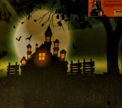 Halloween Picture Canvas Led Battery Operated 11.8  X 11.8 Home Decor Sealed