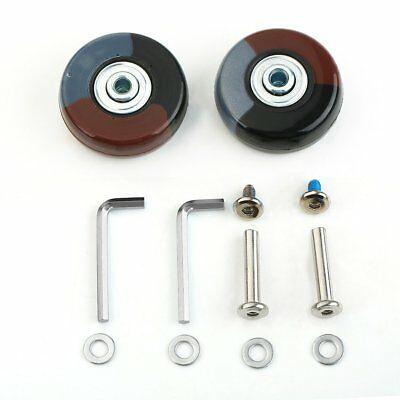 2 Sets Luggage Suitcase Replacement Wheels Axles Deluxe Repair OD 50mm