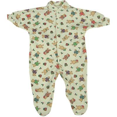 BabyPrem CHRISTMAS Baby Clothes Boys Girls Teddy Sleepsuit Babygrow 0-3m / 3-6m