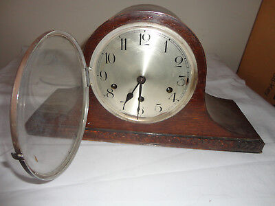 OLD MANTEL PIECE CLOCK for repair or spare parts
