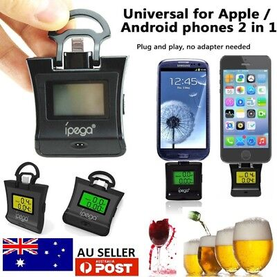 Digital Alcohol Breathalyser Breath Tester Portable Breathtester Blue LCD AUS