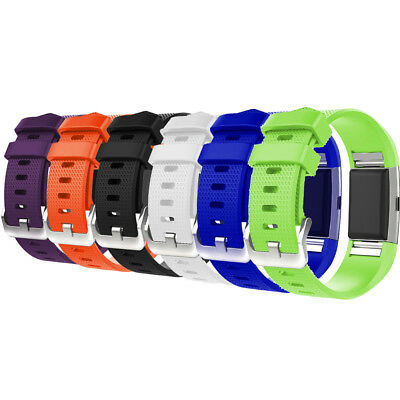 New Silicone Replacement Watch Wrist Band Sports Strap For Fitbit Charge 2 /HR