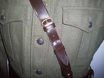 Sam Brown Officers Leather Cross Strap - Various Length, Brown Leather New