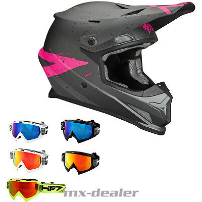 2019 Thor MX Sector Hype pink Helm Crosshelm  HP7 Brille BMX Motocross Quad