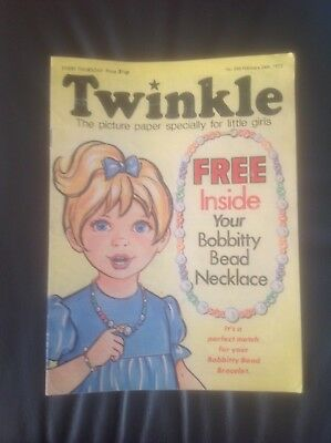 Vintage Twinkle Comic Magazine Feb 24th 1973 puzzle not completed issue 266