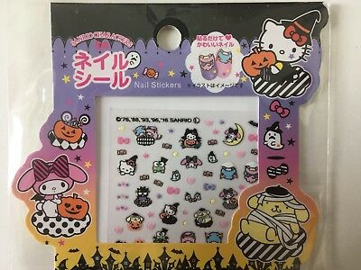 Sanrio Halloween Nagelsticker Hello Kitty, Pompom Purin, My Melody