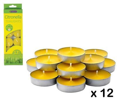 Citronella Tealight Candles Anti Mosquito Insect Fly Insect Repellent Outdoors