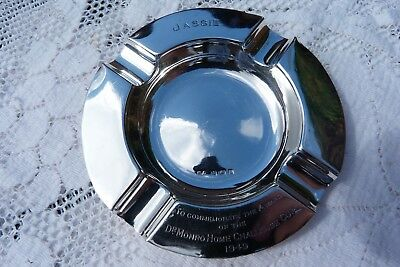 George VI Sterling Silver Ash Tray 1937 Dr Monro Home Challenge Cup Golf Club