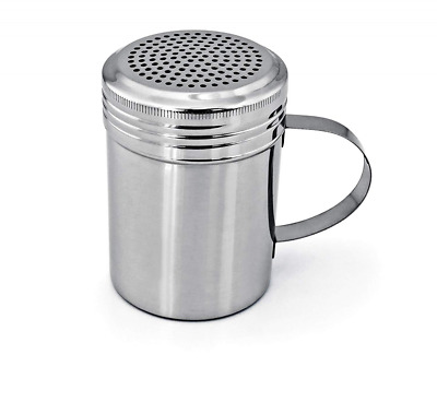 Set of 2 Stainless Steel Dredge Shaker for Salt Powdered Sugar and Pepper