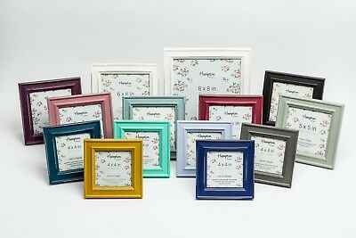 Paloma Shabby Chic Square Rustic Distressed Wood Photo Picture Display Frames
