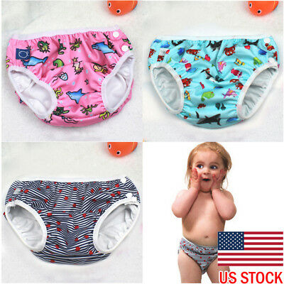 Baby Washable Reusable Cloth Nappy Diaper Cover Wrap SUMMER Swim Pants US STOCK