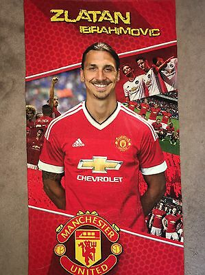 NEW!!! FC Zlatan Ibrahimovic Manchester United Beach/Gym/Bath Towel 140Cm X 70Cm