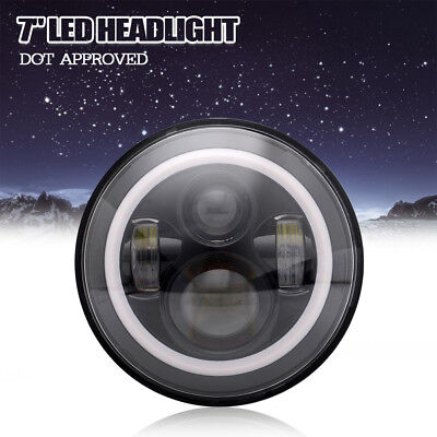 DREAM-LIGHT 1Pc 7 Inch Round LED Daymaker Projector Headlight for Motor Harley