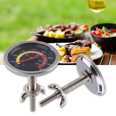 6A46 50-400℃ Barbecue Grill Stainless Steel Thermometer Temperature Gauge Round