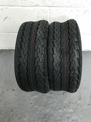 2 x 20.5x8.00-10 Ride on Mower Turf Tyres 4PR TL Deli S-368 - TWO TYRES
