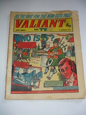 VALIANT And TV 21 comic 5th January 1974..