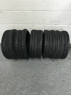 5 x 20.5x8.00-10 Ride on Mower Turf Tyres 4PR TL Deli S-368 - FIVE TYRES
