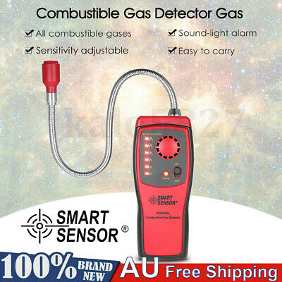 Combustible Gas Leak Detector Tester Gas Leakage Indicator Sound and Light Alarm