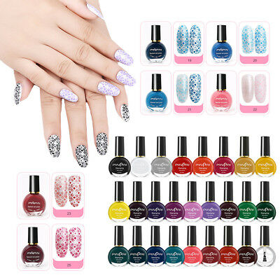 Pro 26 Colors Stamp Template Stamping Nail Polish Art Manicure Varnish Brush A#