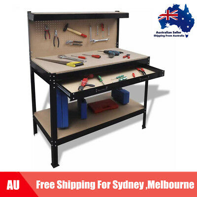 Workbench with Pegboard and Drawer G8G1