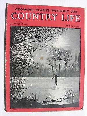 COUNTRY LIFE MAGAZINE 1951 January 12 Guinness Ad Rushlight Holders Mac Hastings