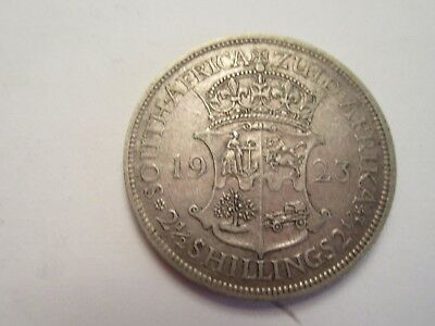 1923 South Africa Silver 2 1/2 Shillings