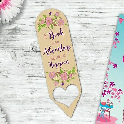 Adventure Wooden Bookmark Gift For A Mum Daughter Auntie Sister Birthday Gift