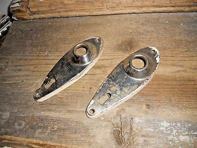 Vtg Old Chippy Shabby Small Antique Door Knob Back Plates Jewelry Pinterest