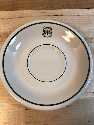 Forest Service US Dept of Agriculture Buffalo China Saucer Green Logo