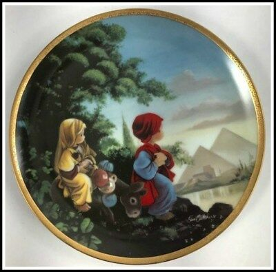 The Flight Into Egypt from the Precious Moments Bible Story Plate