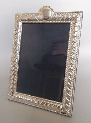 Contemporary solid silver 10'' x 7'' photo frame, Ray Hall, B'ham c.1980s/90s
