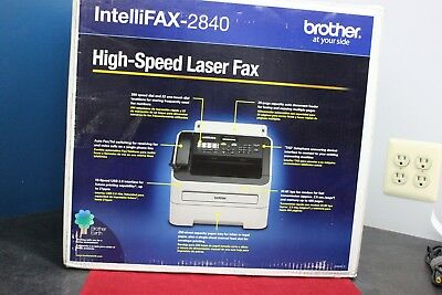 BRAND NEW Brother IntelliFax-2840 FAX2840 High-Speed LASER FAX Machine open box