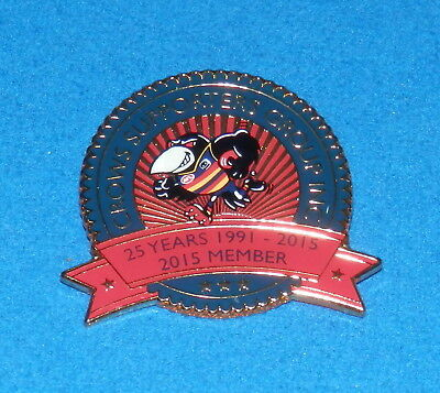 2015 25 Years Adelaide Crows Supporters Group Members Badge